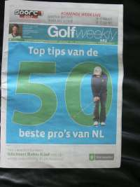 Gratis weekblad Golf Weekly.